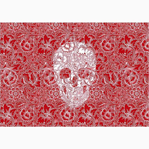 Jogo Americano Skull Red - 02 Peças