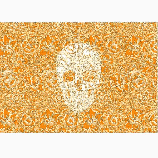 Jogo Americano Skull Orange  - 02 Peças