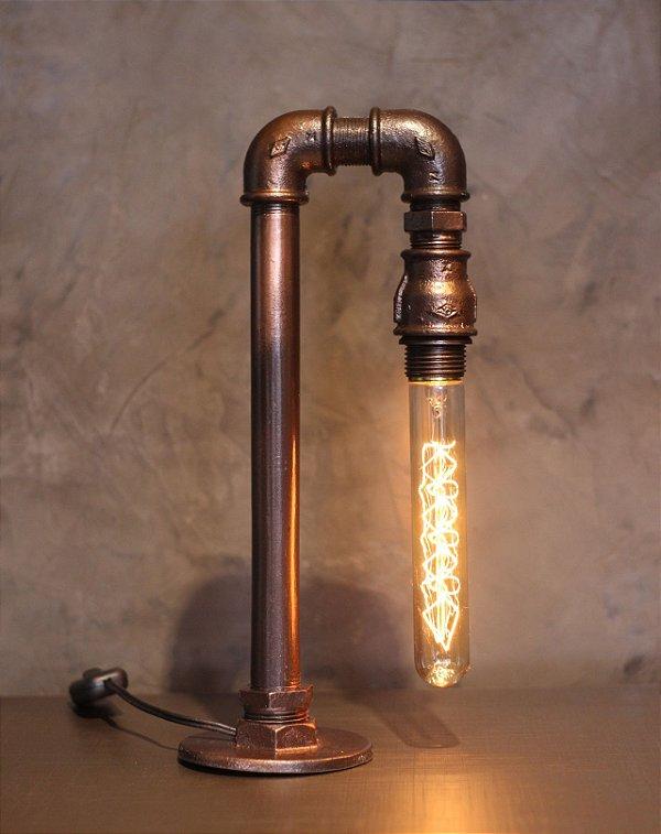 Luminária Cisne Cobre c/ lamp.