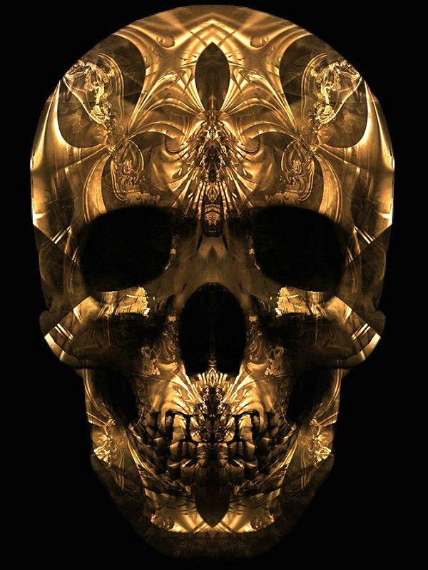 Poster Skull Gold