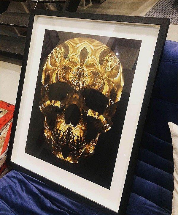 Quadro Skull Gold