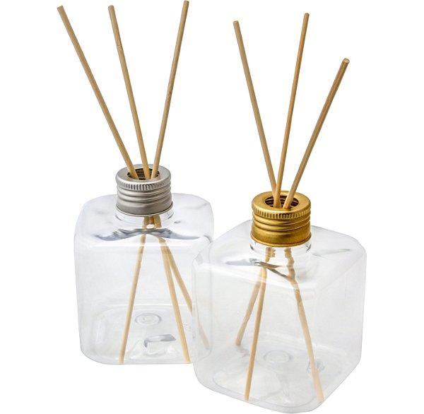 Frasco para Aromatizador Plástico Cubo de 300 ml (10 unid)