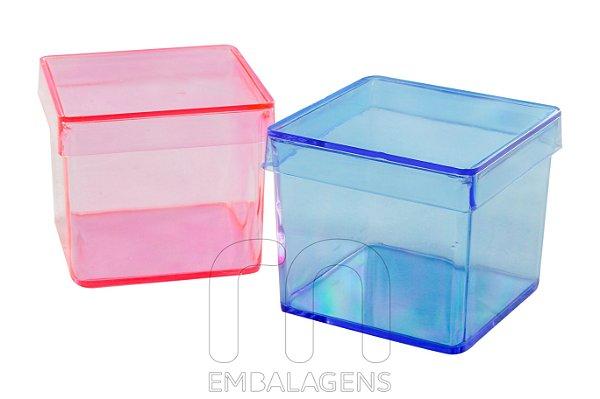 Caixinha de acrilico 5x5 colorida (10 unid.)