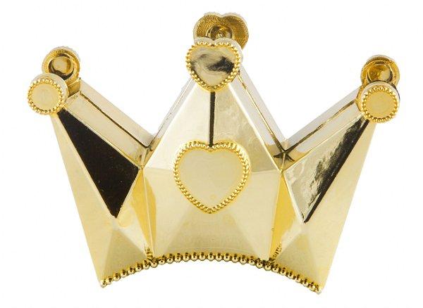 Caixa Coroa para Lembrancinhas Metalizado (12 unid.)