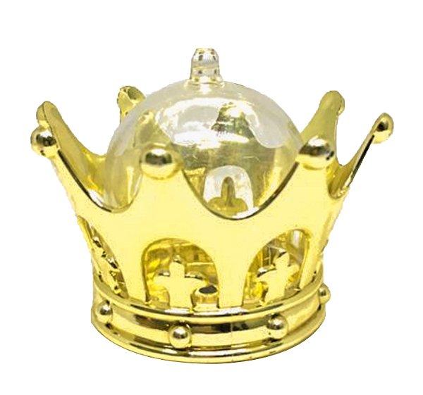 Mini Cúpula Coroa Luxo para Lembrancinhas (12 unid.)
