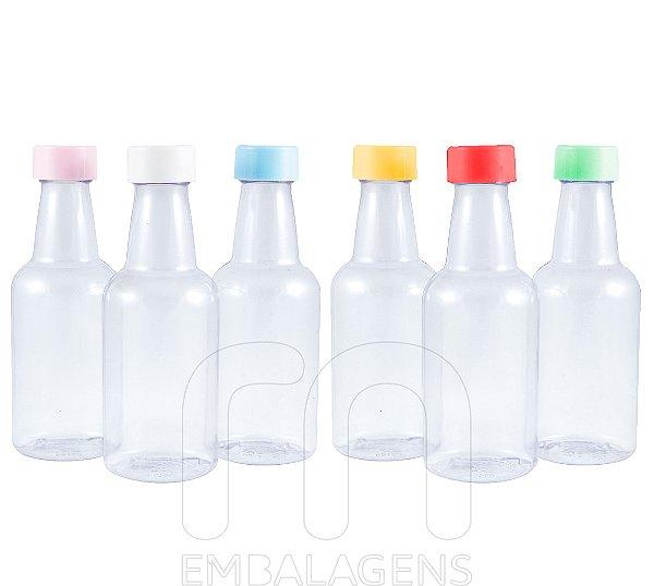 Garrafinha plástica Atacado 50 ml para Lembrancinhas PVC (100 unid.)