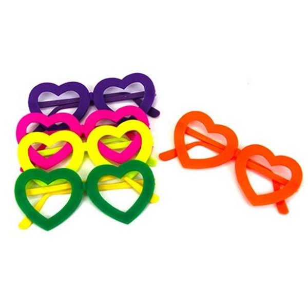 Óculos para Festa de Coração Plástico (12 unid.)