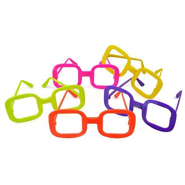 Óculos para Festa Sem Lente Quadrado (12 unid.)