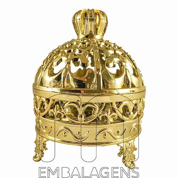 Porta Joia para Lembrancinhas Realeza de Coroa Dourado (12 unid.)