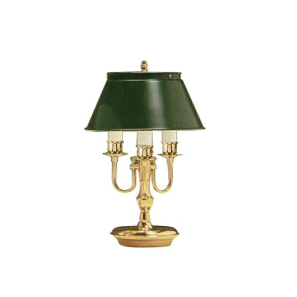Abajur Mini Inglês Dourado 3 Braços Curvos Cúpula Bivolt 41cm de Altura Golden Art E-27 M012 Cabeceiras e Mesas