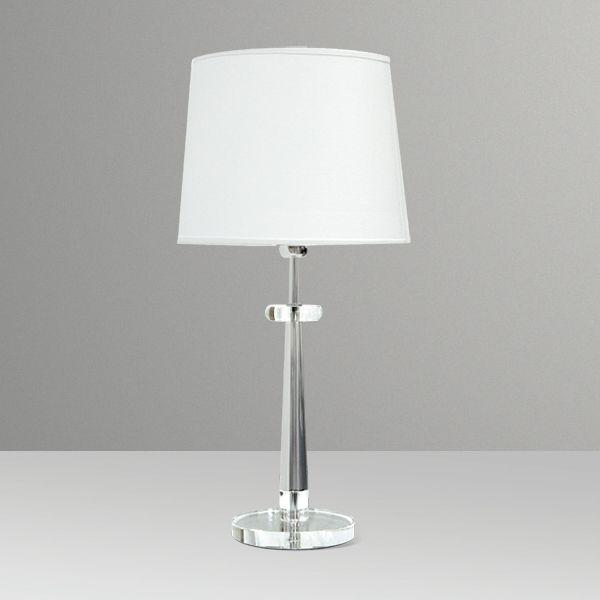 Abajur Alumínio Cromado Vidro Cúpula Cônica Tecido Bivolt 65cm de Altura Boss Golden Art E-27 M082 Cabeceiras e Salas