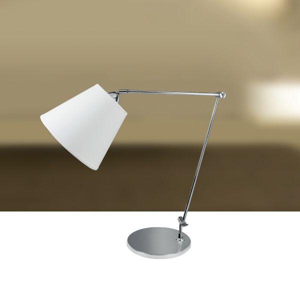 Abajur Luminária de Mesa Articulado Alumínio Cúpula Tecido Bivolt 60cm de Altura Classic Golden Art M629 Quartos e Salas