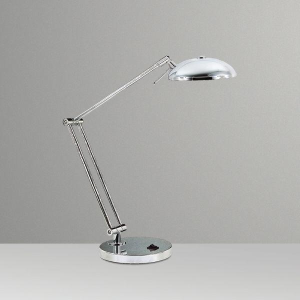 Abajur Luminária de Mesa Articulado Alumínio Cromado Bivolt 40cm de Altura Jully Golden Art G9 M680A Escritórios e Salas