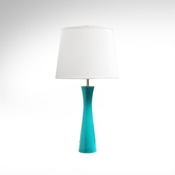 Abajur Rústico Colorido Madeira Laqueada Azul Cúpula Tecido Bivolt 70cm de Altura Avant Golden Art M715-AZ Quartos e Salas
