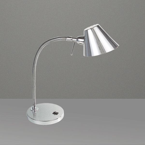 Abajur Luminária de Mesa Haste Flexível Cúpula Calha Bivolt 35cm de Altura Millus Golden Art M699 Escritórios e Quartos