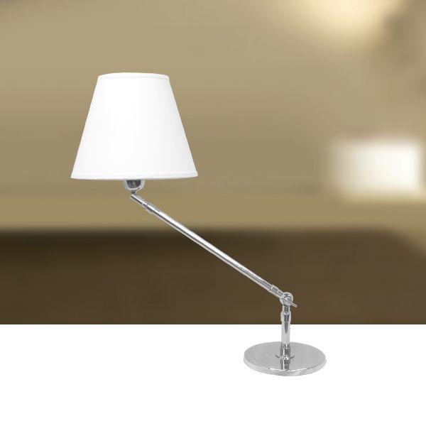 Abajur Luminária de Mesa Articulado Cúpula Bivolt Leitura 50cm de Altura Angle Golden Art E-27 M740 Cabeceiras e Salas