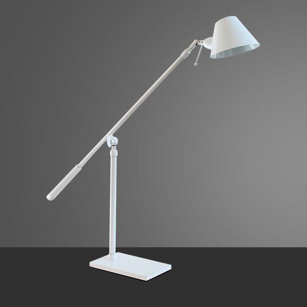 Abajur Luminária de Chão Articulada Branca Alumínio Cúpula Bivolt 1,6m de Altura Zull Golden Art G9 M786 Salas e Hall