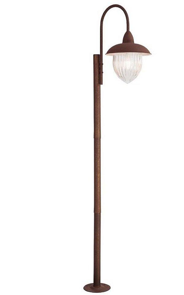 Poste Rústico Coluna Metal Envelhecido Vidro Cristal Bivolt 2m de Altura Veneza Madelustre 2589.94 Jardins e Sítios