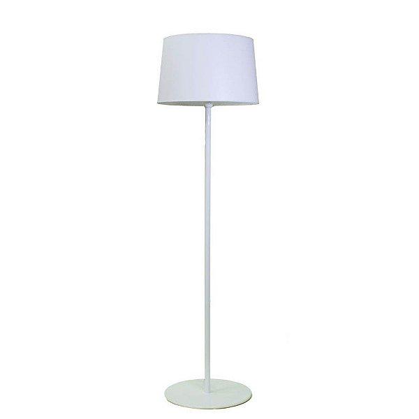 Coluna Luminária de Chão Branca Alumínio Cúpula ABS Bivolt 1,60m de Altura Castt Golden Art E-27 C895BR Salas e Hall