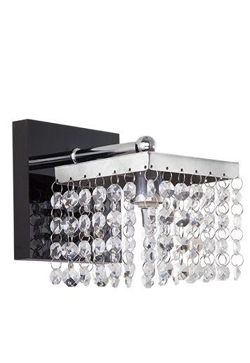 Arandela Interna Quadrada Inox Cristal Vidro Leitoso 18x20 Crystal Madelustre G9 2574 Corredores e Quartos