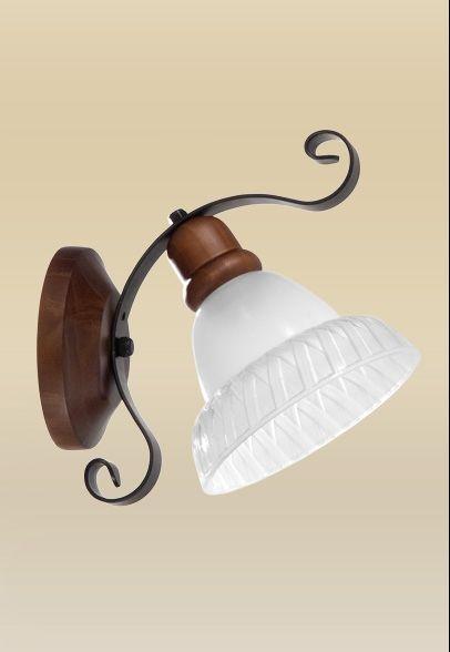Arandela Interna Rústica Madeira Maciça Imbuia Vidro Leitoso 20x24 Sombrero Madelustre E-27 2100 Corredores e Salas