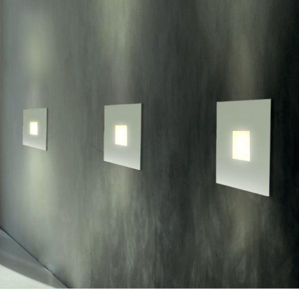 Arandela Interna Aço Inox Fosco Quadrada Luz Vazada 30x30 Golden Art G9 P744 Corredores e Quartos