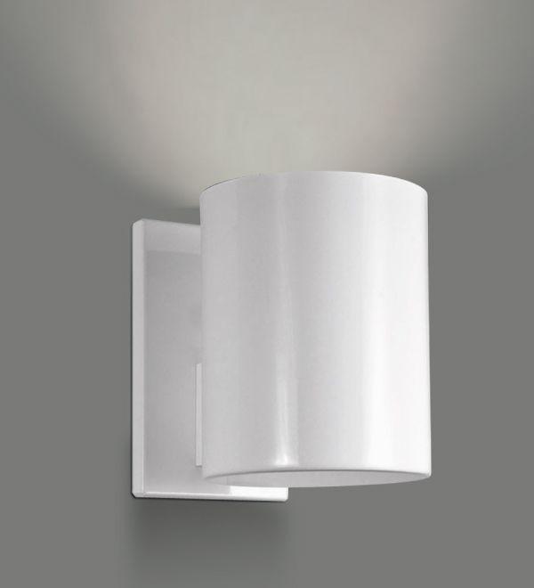 Arandela Interna Tubular Alumínio Branco Decorativa Ø10 Golden Art E-27 P742 Quartos e Salas