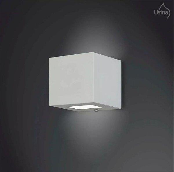 Arandela Externa Box Quadrada Fechada Alumínio Fosco 11x11 Jasmim Usina Design G9 5110/1 Muros e Jardins