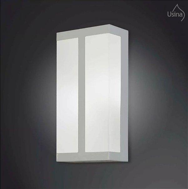 Arandela Interna Retangular Vidro Fosco Decorativa 15x30 2012 Usina Design E-27 5120/30 Corredores, Quartos e Salas