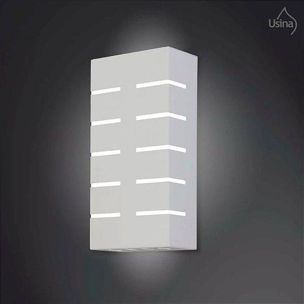 Arandela Interna Alumínio Listrada Decorativa Luz Frontal 15x30 2012 Usina Design E-27 5140/30 Quartos e Salas
