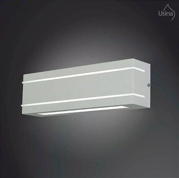 Arandela Interna Alumínio Fosco Luz Frontal Decorativa 12x25 Ipe Usina Design E-27 5007/1 Banheiros e Cozinhas