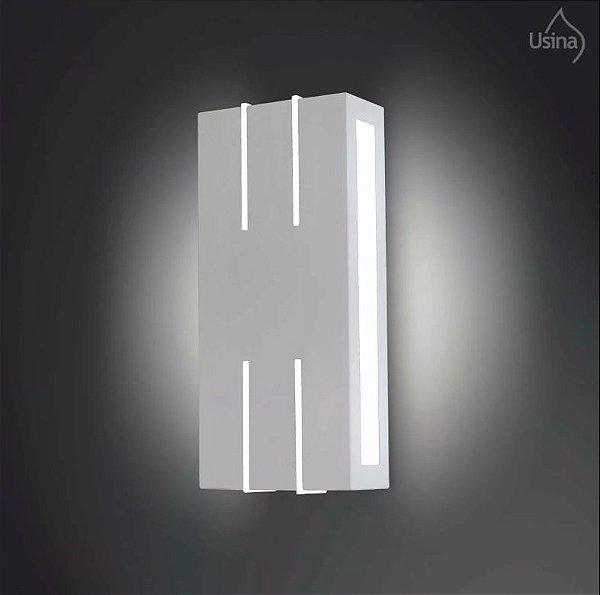 Arandela Interna Alumínio Fosco Retangular Decorativa 25x12 Ipe Usina Design E-27 5004/1 Corredores e Escritórios