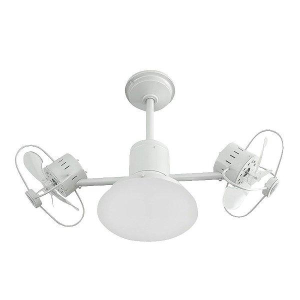 Ventilador Teto Lustre Infinit Plus Branco Controle Remoto Luminaria Sala Quarto Treviso TRV55
