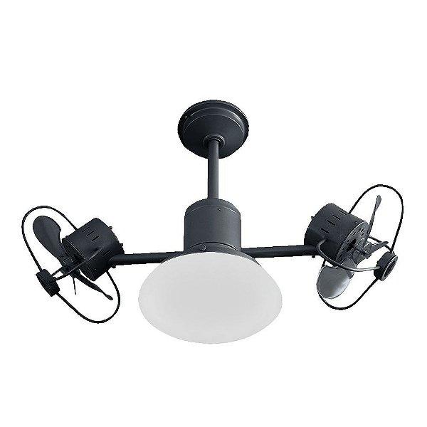 Ventilador Teto Lustre Infinit Plus Preto Controle Remoto Luminaria Sala Quarto Treviso TRV56