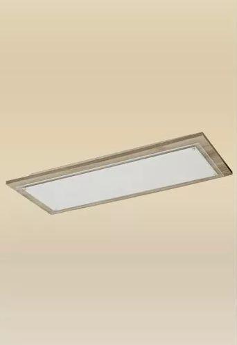 Plafon Monalisa Embutido Retangular 37x87 Luminária Madeira Vidro Quarto Sala Madelustre-2444