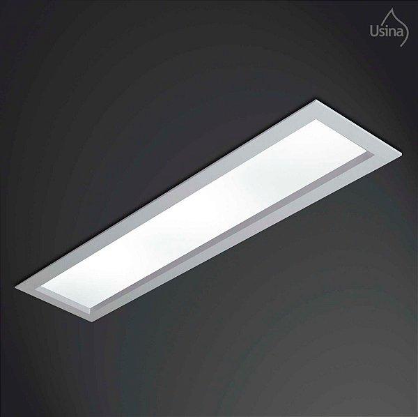 Plafon Embutido Retangular Luminária Bivolt 11x65 Magnum Usina Design T8 3610/65 Cozinhas e Salas