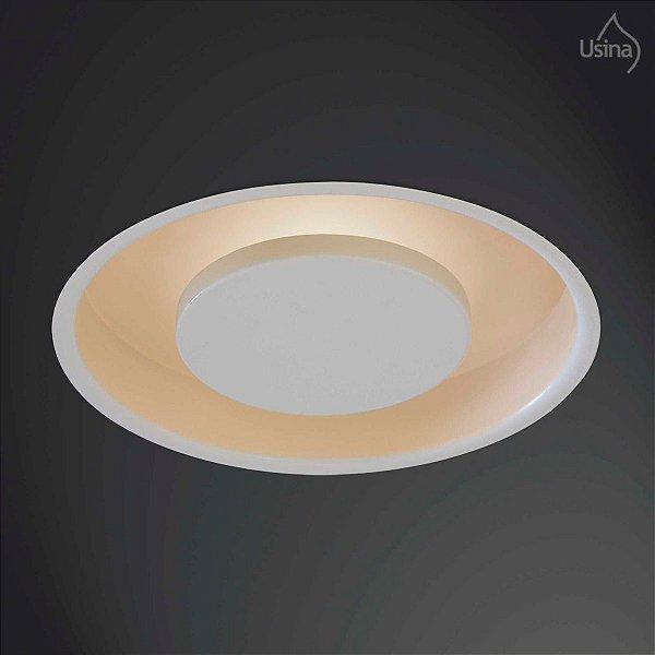 Plafon Embutido Redondo Texturizado Bivolt Ø52 Eclipse Usina Design G9 242/5 Banheiros e Cozinhas