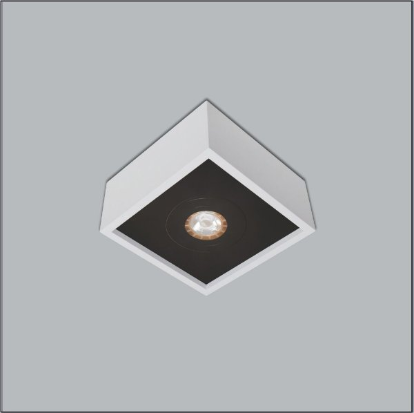 Spot Quadrado Premium Sobrepor Closet Quarto  Ar70 Sala 4502/11 Usina