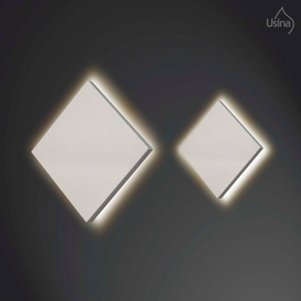 Arandela Interna Quadrada Slim Alumínio Luz Indireta 20x20 Home Usina Design G9 255/20 Corredores e Salas