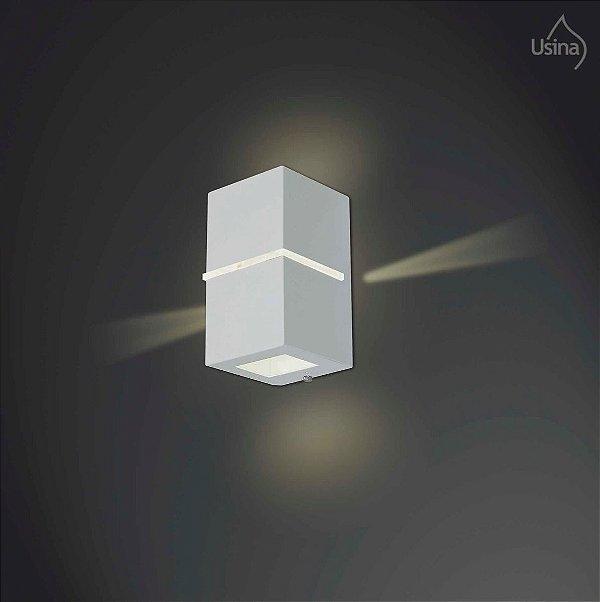 Arandela Externa Retangular Alumínio Fosco Facho 18x11 Ipe Usina Design G9 5001/1 Muros e Garagens