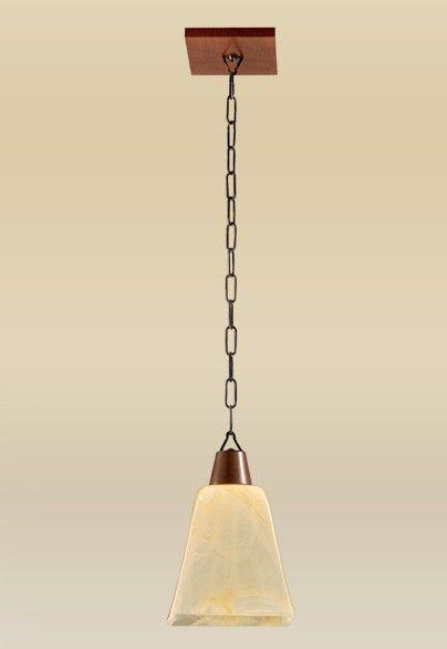 Pendente Rústico Madeira Maciça Âmbar Metal Vidro Acetinado Ouro 15x17 Madelustre E-27 2101-1 Cozinhas e Entradas