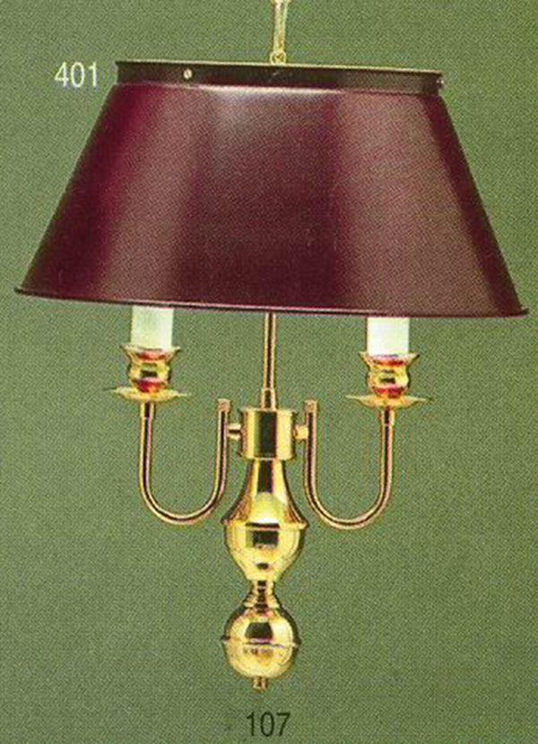 Pendente Inglês Vintage Dourado Cúpula Vinho 2 Lâmpadas Bivolt 40x58 Golden Art E-27 T005 Entradas e Salas