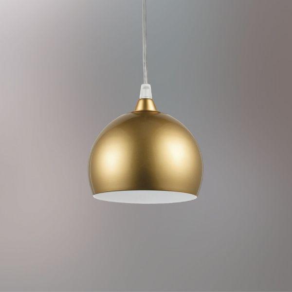 Pendente Bolinha Alumínio Dourado Decorativo Ø12 Golden Art G9 T202-1 Cozinhas e Salas