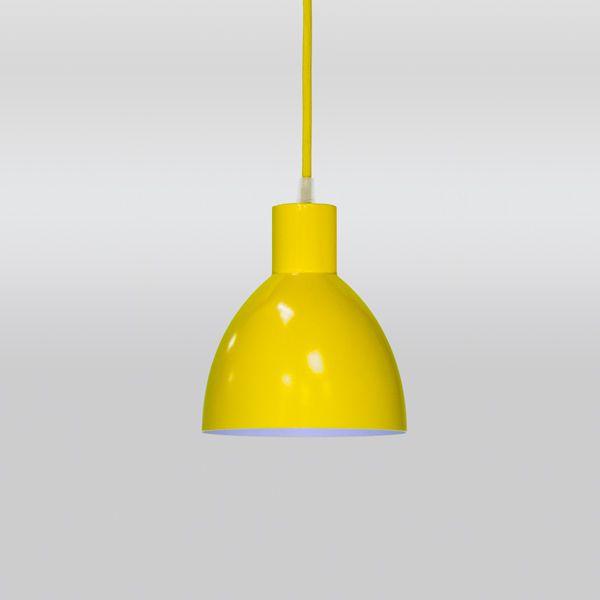 Pendente Alumínio Colorido Redondo Amarelo Decorativo Ø15 Seed Golden Art E-27 T893-1 Cozinhas e Quartos