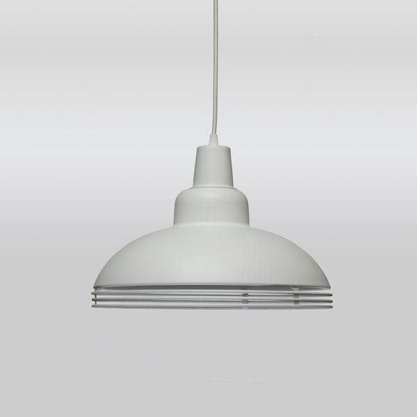 Pendente Alumínio Branco Redondo 3 Aros Decorativo 36x27 Romi Golden Art E-27 T766 Cozinhas e Quartos