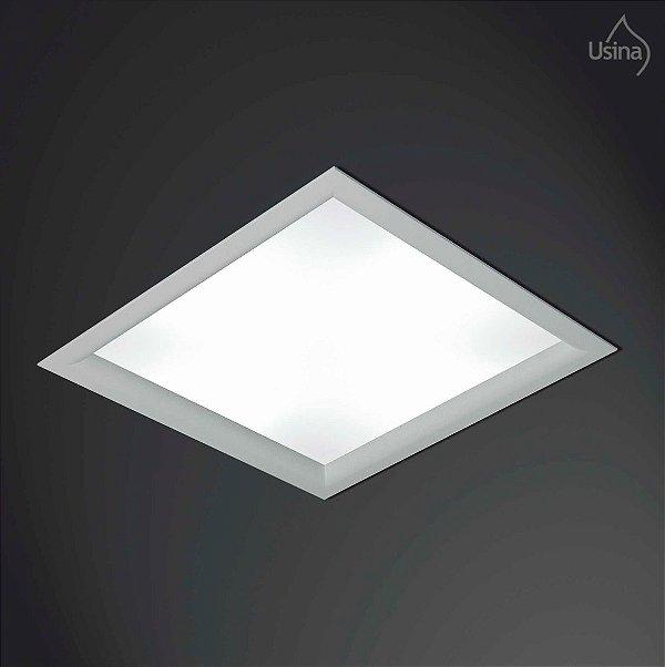 Plafon Embutido Quadrado Branco Bivolt 65x65 Orion Usina Design T8 3500/65f Cozinhas e Salas
