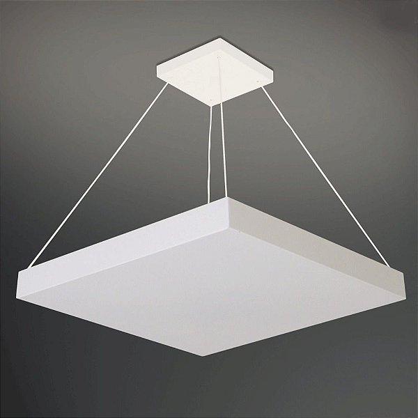 Pendente Quadrado Acrílico Branco Clean 50x50 Home Usina Design E-27 253/5e Cozinhas e Salas
