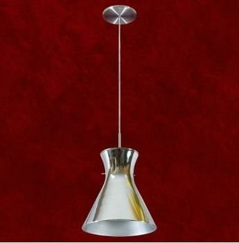 Pendente Cônico Alumínio Cromado Espelhado 29cm Áurea Mr Iluminação E-27 2107-1-esp Cozinhas e Salas
