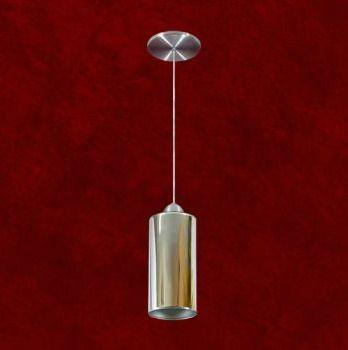 Mini Pendente Tubular Alumínio Cromado Espelhado 12x24 Mariany Mr Iluminação 2249-esp Cozinhas e Quartos