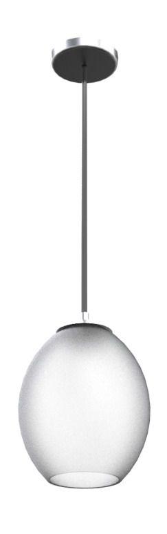Pendente Vertical Barril Cúpula Vidro Leitoso Fosco Ø21cm New Design E-27 R-238 Entradas e Hall